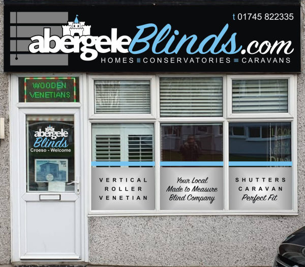 Abergele Blinds - Showroom - Plenty of on road parking